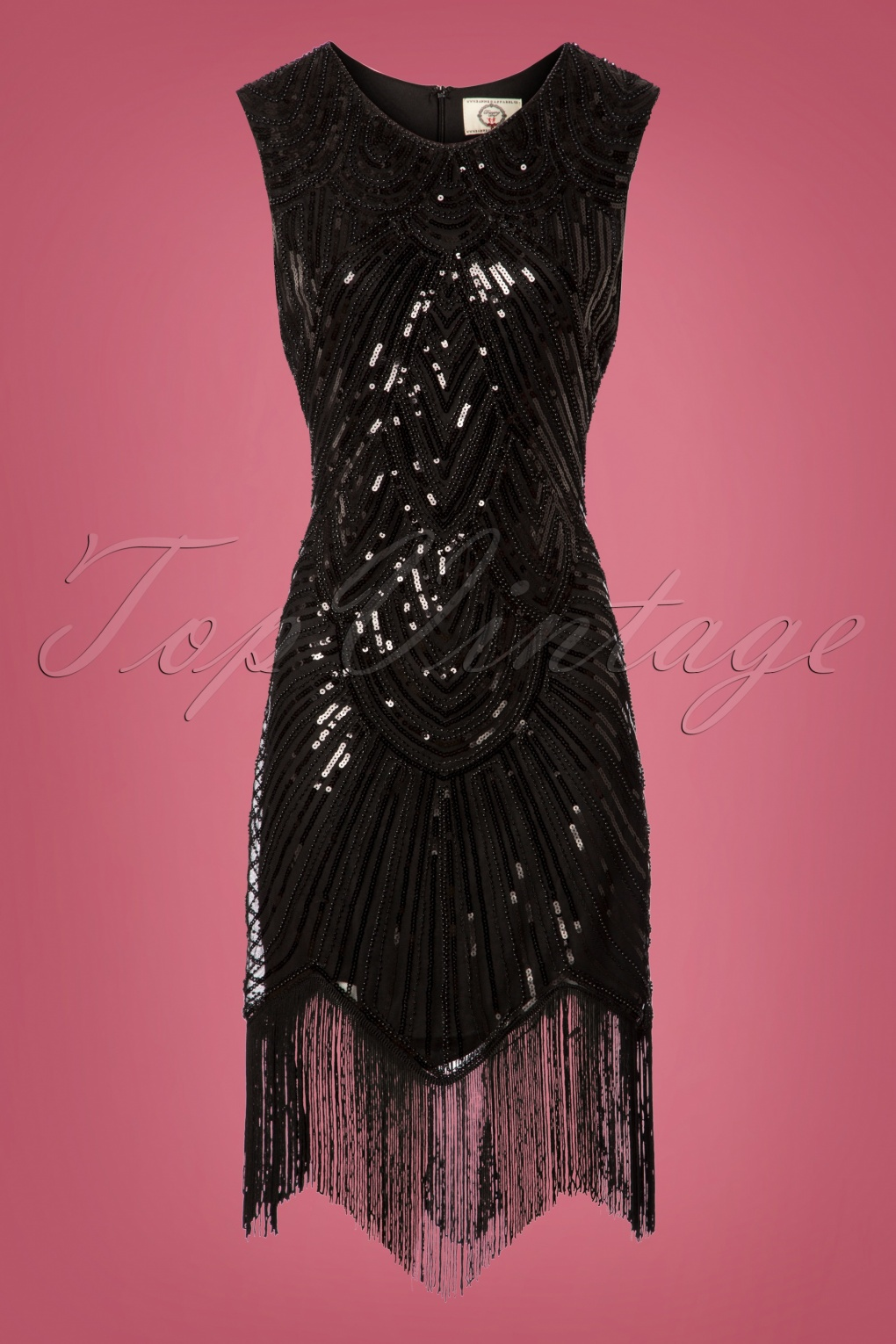 Roaring 20s Costumes- Flapper Costumes, Gangster Costumes 20s The Great Gatsby Dress in Black £61.41 AT vintagedancer.com