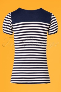 Steady Clothing Blue Striped Sailor Top 24578 2W
