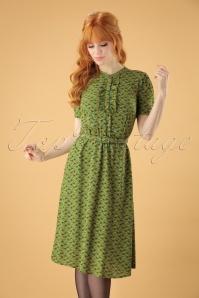 60s Gaya Caramba Dress in Posey Green