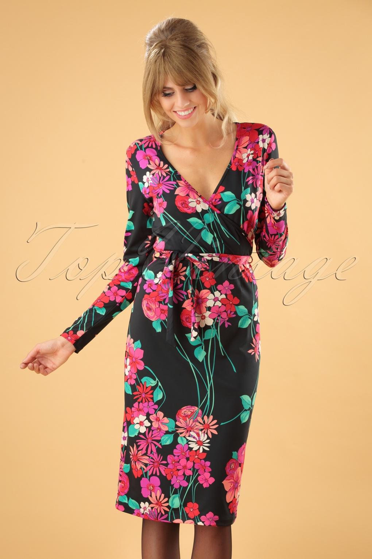 500 Vintage Style Dresses for Sale 60s Anja Eden Pencil Dress in Black £84.79 AT vintagedancer.com