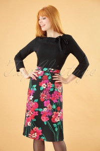 60s Eden Long Skirt in Black