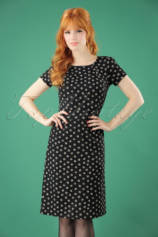 60s mona lennox dress in black. Black Bedroom Furniture Sets. Home Design Ideas