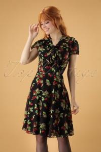 50s Charlotte Dress in Black