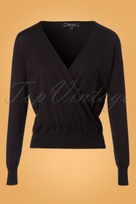King Louie Cross Knit Cottonclub Top in Black 25245 20180720 0001W