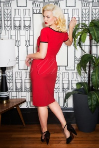 Glamour Bunny Tess Pencil Dress in Red 25765 20180619 0008w