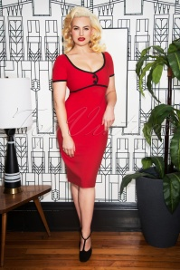 Glamour Bunny Tess Pencil Dress in Red 25765 20180619 0007w