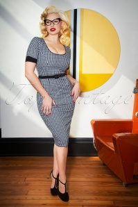 Glamour Bunny Annie Gingham Pencil Dress 25731 20180619 0012W