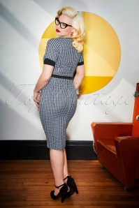 Glamour Bunny Annie Gingham Pencil Dress 25731 20180619 0011W