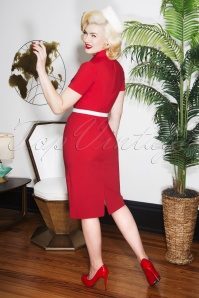 Glamour Bunny June Red Pencil Dress 25743 2W