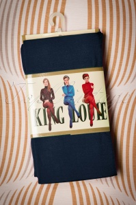 King Louie 60s Penelope Tights Dark Navy 25070 25072018 006w