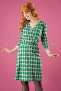 60s Cecil Downtown Dress in Avar Green