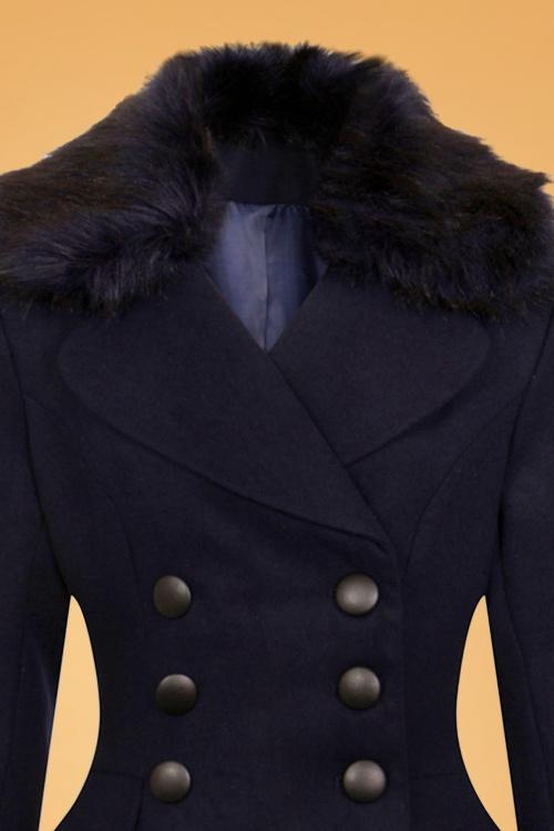 50s Milan Coat in Navy
