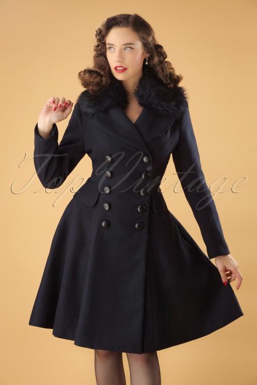 Bunny Milan Coat in Navy 25893 1W