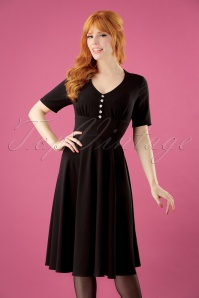 50s Mila Swing Dress in Black