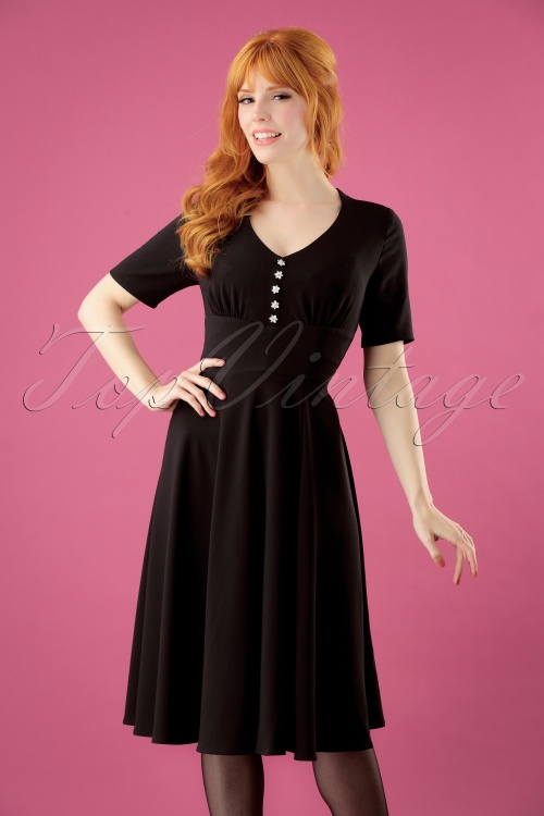 Bunny Mila Swing Dress in Black 25835 2W