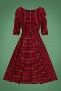 Bunny Irvine 50s Dress in Red 25823 07062018 01W