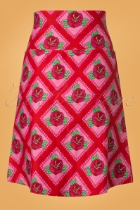 Tante Betsy Square Roses Red Skirt 123 27 25433 20180727 0005W