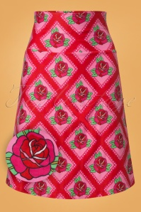 Tante Betsy Square Roses Red Skirt 123 27 25433 20180727 0002W1