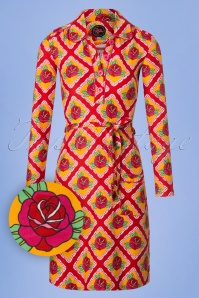 Tante Betsy Bobbie Roses Dress in Orange and Red 106 28 25432 20180727 0002W1
