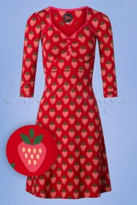 Tante Betsy Lola Strawberry Dress in Red 106 27 25441 20180727 0001W1