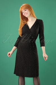 King Louie 60s Cecil Black Polkadot Dress 100 14 25267 20180622 0007W