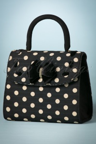 50s Santiago Handbag in Black Spots