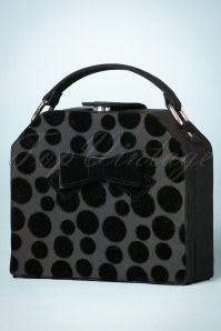 60s Santa Fe Dots Handbag in Black