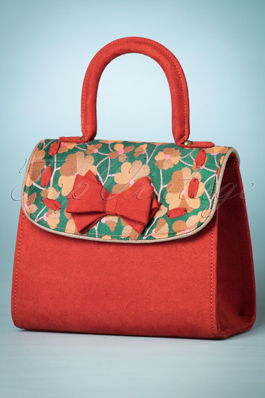 Vintage & Retro Handbags, Purses, Wallets, Bags 60s Baltimore Handbag in Russet £49.06 AT vintagedancer.com