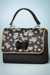 Ruby Shoo Black and Yellow Floral Handbag 212 14 25090 20180727 0009w