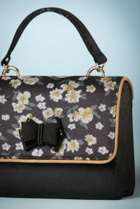 Ruby Shoo Black and Yellow Floral Handbag 212 14 25090 20180727 0009c