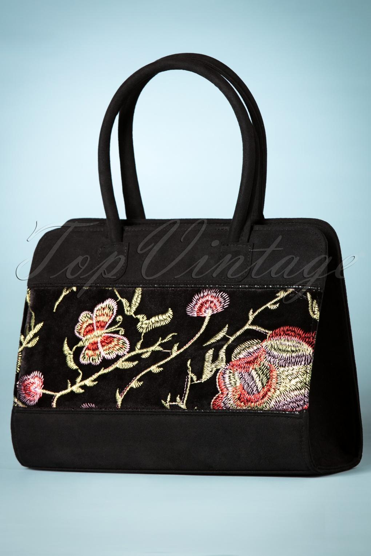 Vintage & Retro Handbags, Purses, Wallets, Bags 70s Tulsa Handbag in Black £49.83 AT vintagedancer.com