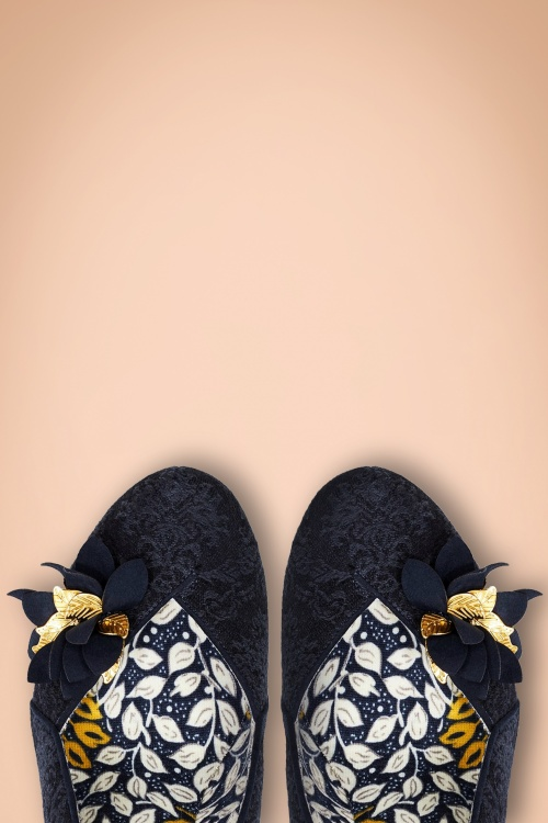 50s Charlie Pumps in Navy