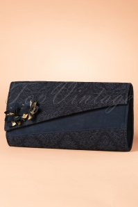 50s Hanoi Clutch in Navy