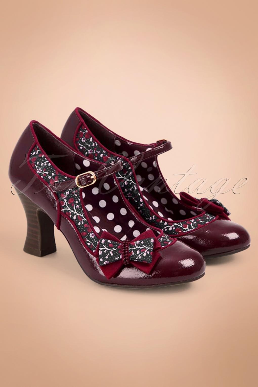 60s Shoes, Boots | 70s Shoes, Platforms, Boots 60s Camilla Pumps in Burgundy £64.81 AT vintagedancer.com