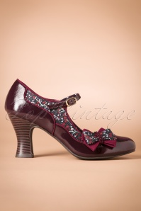 Ruby Shoo Pump Camilla Burgundy 400 69 25106 20180731 0003W