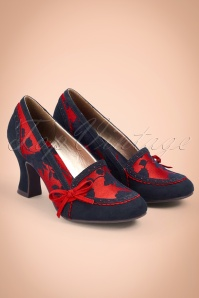 Ruby Shoo Pump Flora in Navy Red 400 27 25103 20180731 0005w