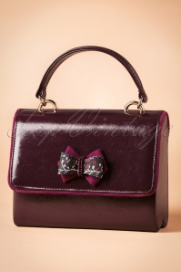 60s Casablanca Handbag in Burgundy