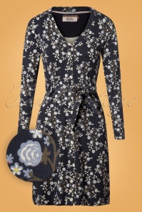 4FunkyFlavours Love Rollercoaster Blue Roses Dress 106 39 25940 20180731 0003W1
