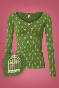 Blutsgeschwister Country Road Green Long Sleeve Top 113 49 26037 20180731 0001W1