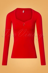 Blutsgeschwister Red Long Sleeve Top 113 22 26055 20180731 0001W