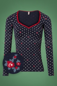 Blutsgeschwister Mary Lous Long Sleeve Polkadot Top 113 39 26042 20180731 0001W1