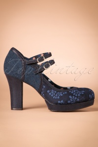 50s Laura Pumps in Navy