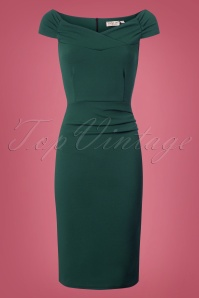 Vintage Chic Cynthia Pencil Dress in Green 100 40 26640 1W