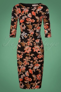 Vintage Chic Crepe Floral Pencil Dress 100 14 26441 20180801 0002W
