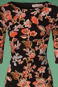 Vintage Chic Crepe Floral Pencil Dress 100 14 26441 20180801 0002V
