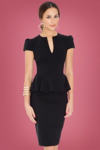 Vintage Chic Black Deep V Dress 100 10 14567 20150127 1
