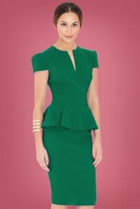 Vintage Chic Emerald Green Deep V Dress 100 40 14563 20150127 1