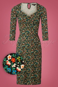 King Louie 50s Perry Floral Pencil Dress 100 14 25258 20180619 0002W1