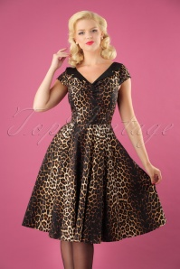 Panthera Swing Dress Années 50 en Léopard