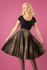 Bunny 50s Leopard Panthera Swing Skirt 25866 6W